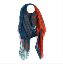 Load image into Gallery viewer, Teal Mix Indian Inspired Scarf
