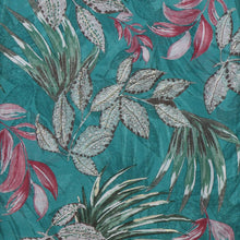 Load image into Gallery viewer, Teal Floral Print Scarf