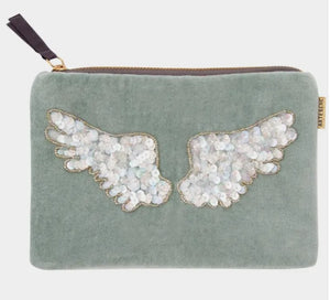 Sequin Angel Wings Cosmetic Purse