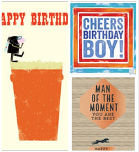 Load image into Gallery viewer, Pack of 3 Birthday Cards (Including UK P&P)