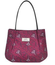 Load image into Gallery viewer, Aubergine Flower Oil Cloth Bag