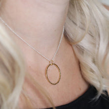 Load image into Gallery viewer, Silver & Gold Hoop Necklace