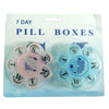 302_7 Day Weekly Mini Pill Medicine Box Holder Storage Container Case Pill Box Splitters Travel Pill Box