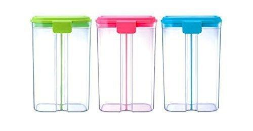 618 -2 in 1 Transparent Sealed Cans/Jars/Storage Box with 2 Grid