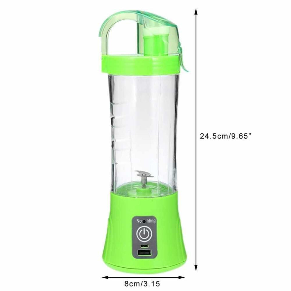 739 Portable Blender Juicer Cup USB Rechargeable Electric Automatic Vegetable Juicer Cup Lemon Orange Maker Mixer Bottle Drop 380ml
