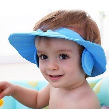 378 Adjustable Safe Soft Baby Shower cap