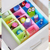 235 5-Compartments Socks/Handkerchief/Underwear Storage Box Socks Drawer Closet Organizer Storage Boxes (pack of 2)