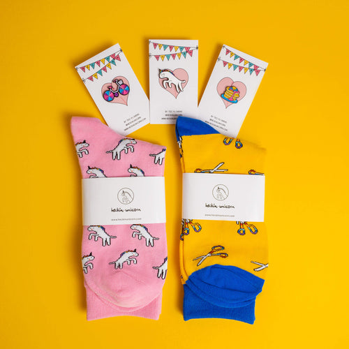 2 Socks + 3 Pins Mega Set (Save 15%)