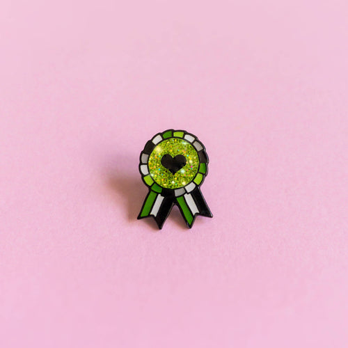 Aromantic Award Badge — enamel pin