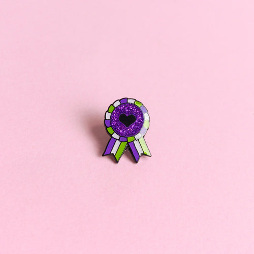 Genderqueer Award Badge — enamel pin