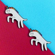 Load image into Gallery viewer, I'm a heckin' unicorn — enamel pin