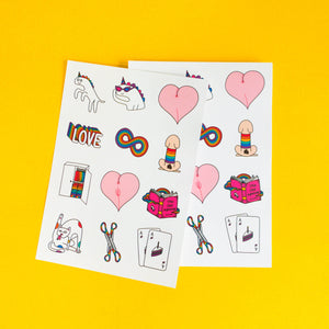 Sticker pack (12 stickers)