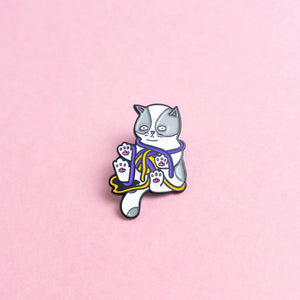 Kitten (enby) — enamel pin