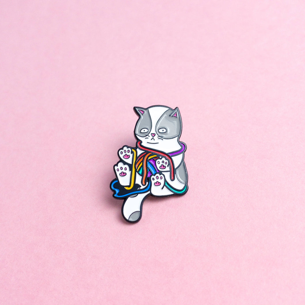 Kitten (rainbow) — enamel pin