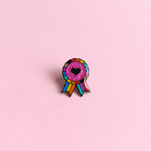 Inclusive LGBTQ+ Award Badge — enamel pin