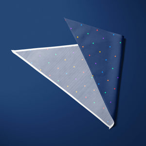 Rainbow dots (navy) — Pet Pride Bandana