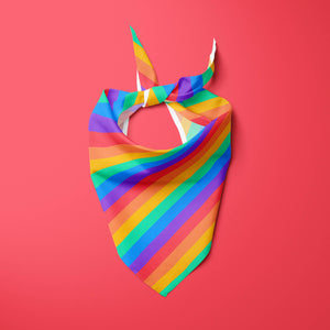 Rainbow stripes — Pet Pride Bandana