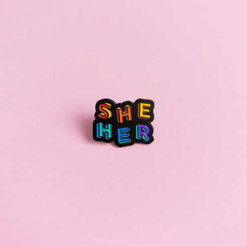She / Her Pronouns — enamel pin