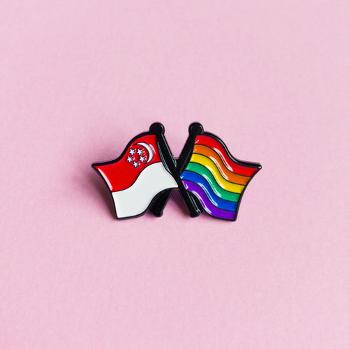Singapore pride — enamel pin