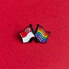 Load image into Gallery viewer, Singapore pride — enamel pin