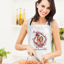 Custom Kitchen Cooking Apron with Your Photo The Best Cook in the World