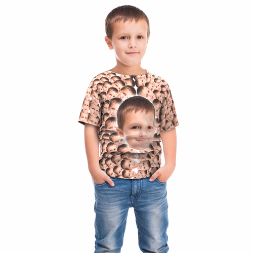 Custom Fanny Faces Mash Kid T-shirt