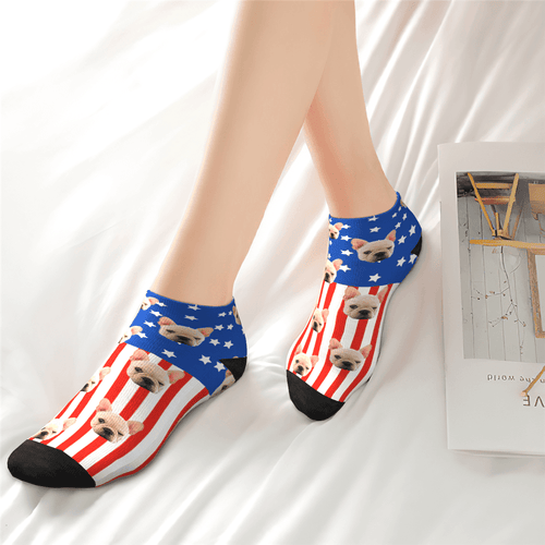 Custom National Flag Ankle Socks