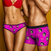 Custom Flamingo And Face On Women's Panties