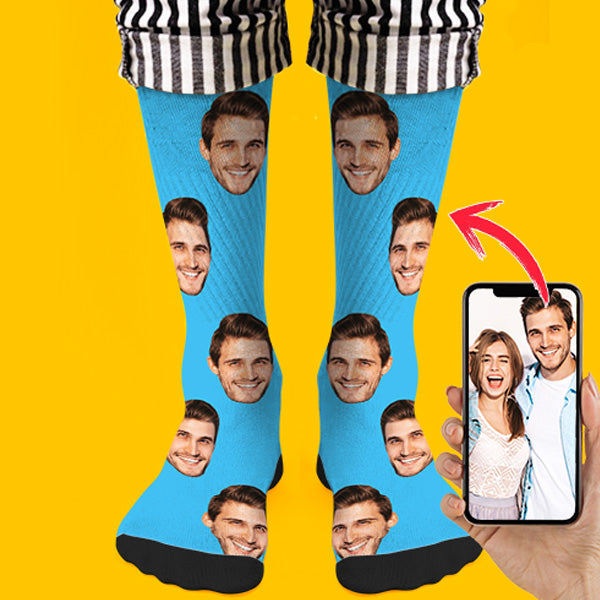 Custom Face Socks 3D Preview