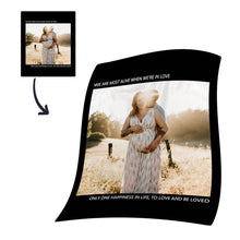 Personalized Photo Blanket Fleece with Text