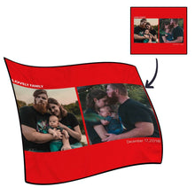 Best Gifts For Mom-Personalized Photo Blanket Fleece with Text - 2 Photos