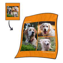 Best Gifts For Mom-Personalized Photo Blanket Fleece with Text - 3 Photos