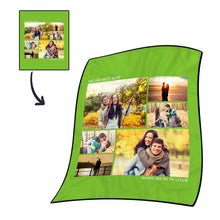 Photo Fleece Blanket with Text - 6 Photos