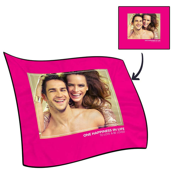 Best Gifts For Mom-Photo Fleece Blanket with Text - Love Family