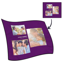 Best Gifts For Mom-Personalized Famliy Photo Fleece Blanket with Text - 3 Photos