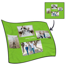Best Gifts For Mom-Personalized Famliy Photo Fleece Blanket with Text - 4 Photos
