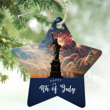 Personalized One Side Photo Party Ornament Happy Independence