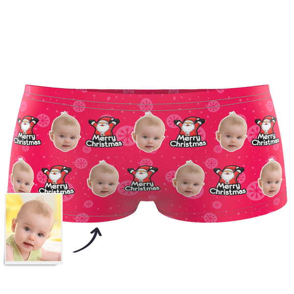 Christmas Santa Claus Kids Custom Face Boxer Briefs