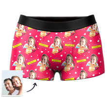 Men's Cupid Custom Face Couple Boxer - Happy Valentine's day