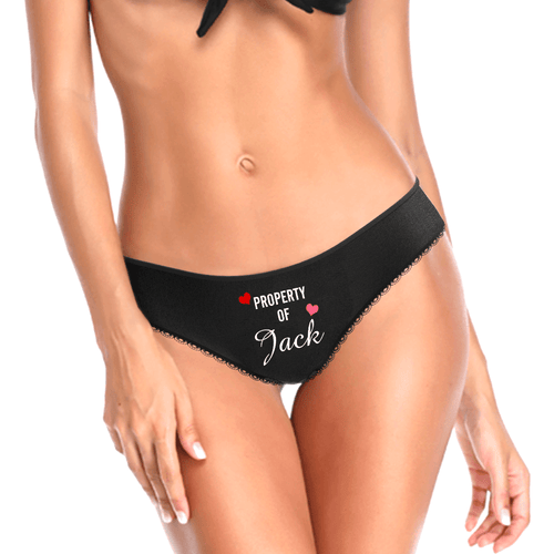 Mother's day gifts-Custom Property of Yours Panties for Girlfriend & Wife -Love