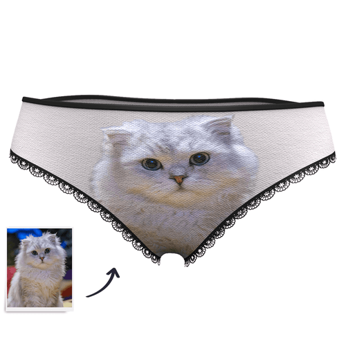 Mother's day gifts-Custom Face Womens Panties Big Cat