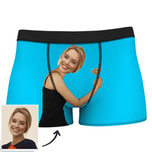Custom Girlfriend Hugs Boxer Shorts - Brown Skin