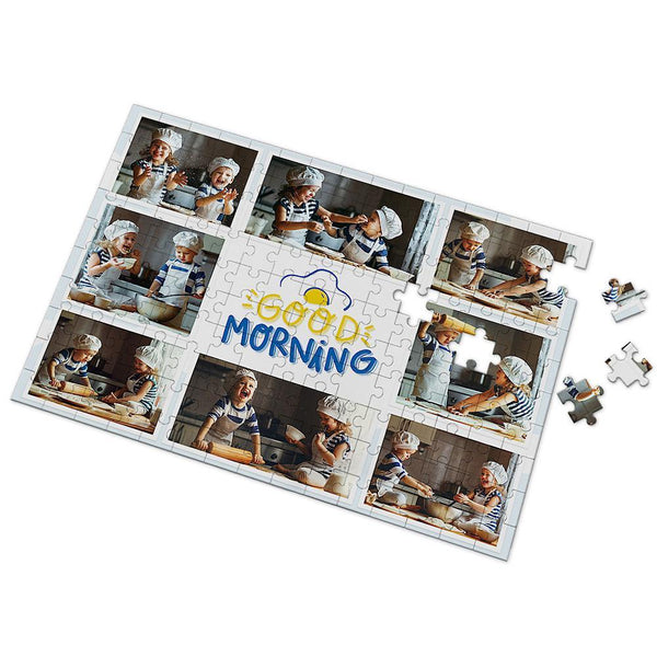 Custom Good Morning Baby Photo Puzzle 35-500 Pieces