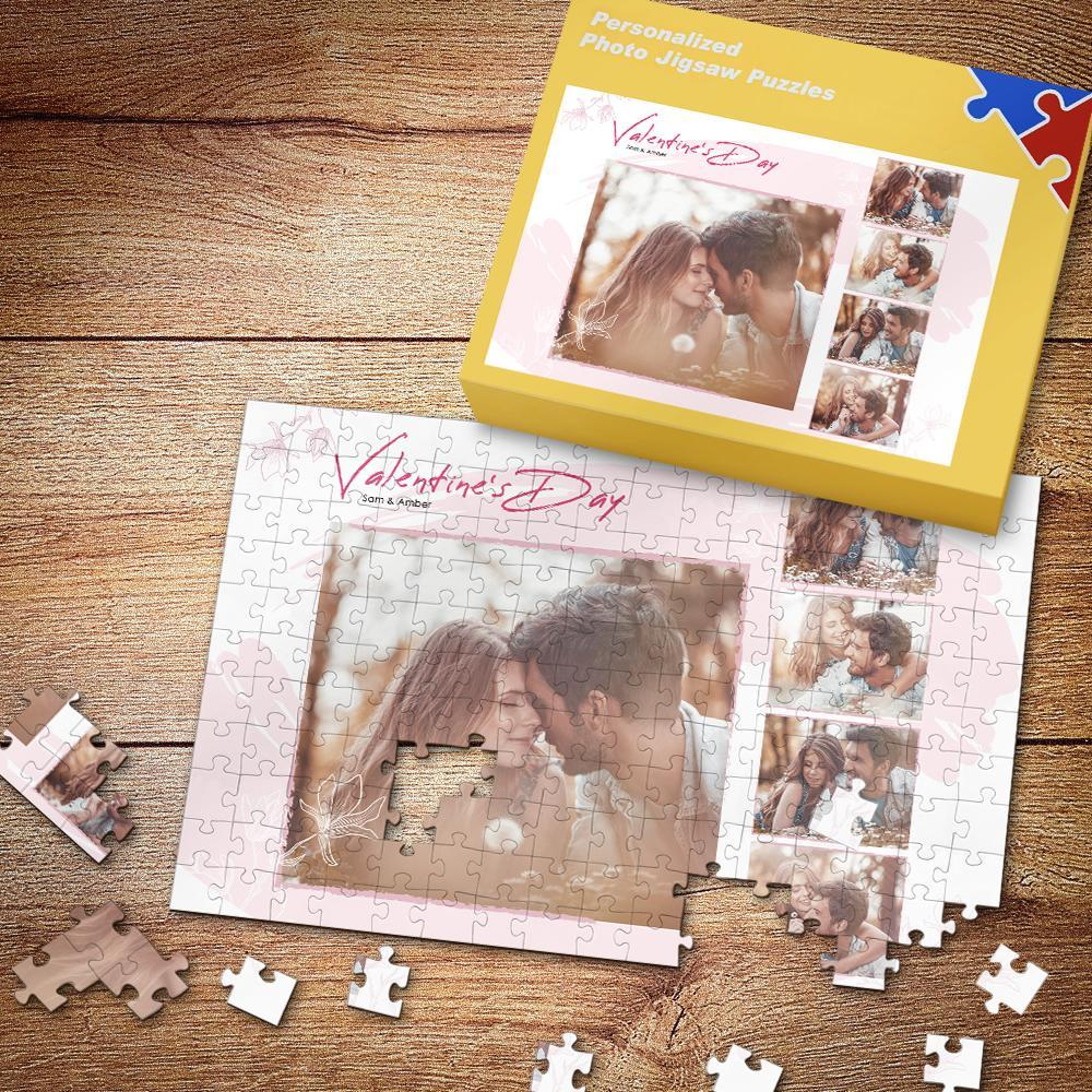 Happy Valentine's Day Custom Photo Puzzle 35-500 Pieces