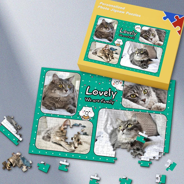 Custom Lovely family Photo Puzzle 35-500 Pieces