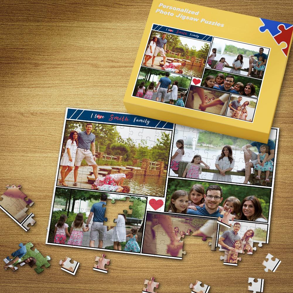Custom Photo Puzzle Warm Family 35-500 Pieces