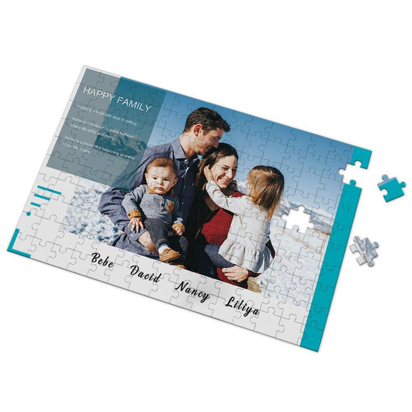 Custom Happy Family Photo Puzzle 35-500 Pieces