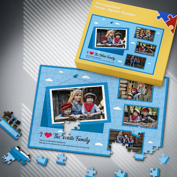 Custom Perfect Gift for Family Photo Puzzle 35-500 Pieces