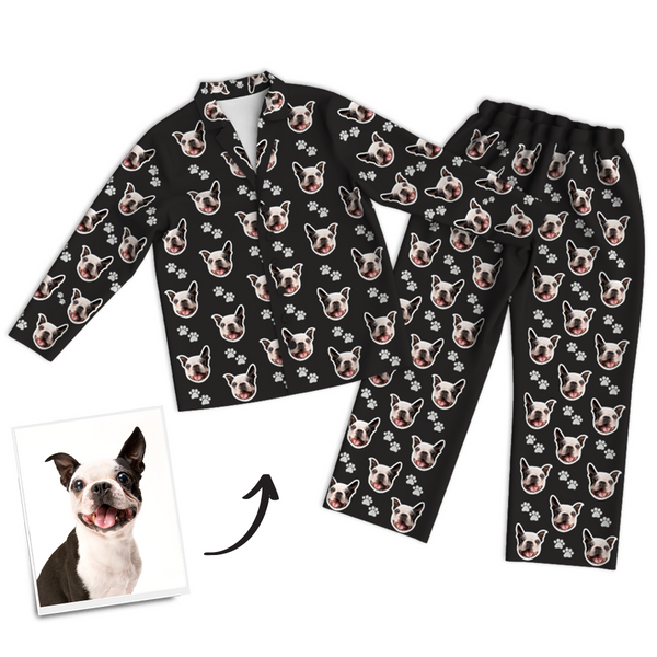 Custom Dog Photo Pajama Pants, Sleepwear, Nightwear