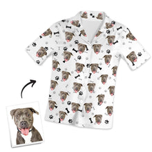 Customized Short Sleeved Pajamas , Home Wear , Bones And Footprints